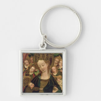 The Virgin and Child with Angels Keychain