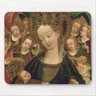 The Virgin and Child with Angels Mouse Pad