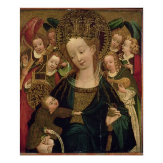 The Virgin and Child with Angels Print