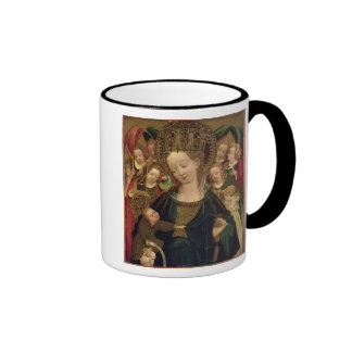 The Virgin and Child with Angels Ringer Coffee Mug