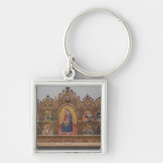 The Virgin and Child with Legendary Scenes Keychain