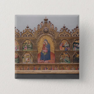 The Virgin and Child with Legendary Scenes Pinback Button