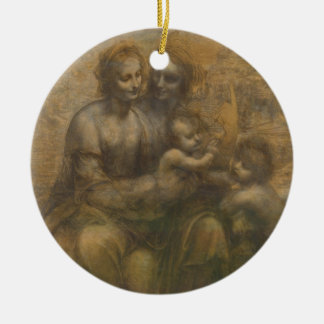 The Virgin and Child with Saint Anne & Saint John Ceramic Ornament