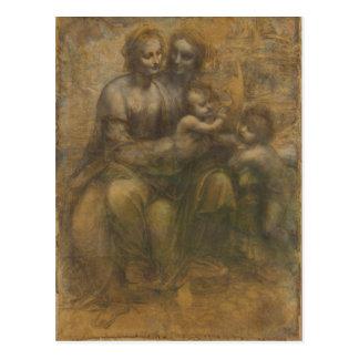 The Virgin and Child with Saint Anne & Saint John Postcard