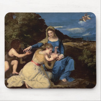 The Virgin and Child with Saints, 1532 Mouse Pad