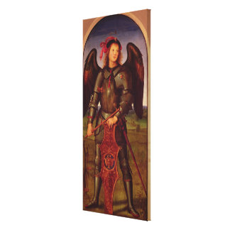 The Virgin and Child with SS. Raphael and Canvas Print