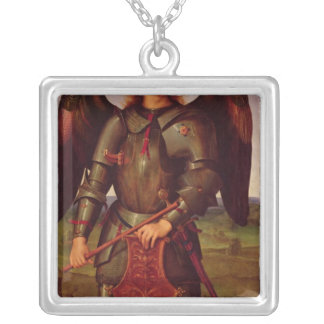 The Virgin and Child with SS. Raphael and Square Pendant Necklace