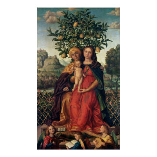 The Virgin and Child with St Anne, 1510-18 Poster