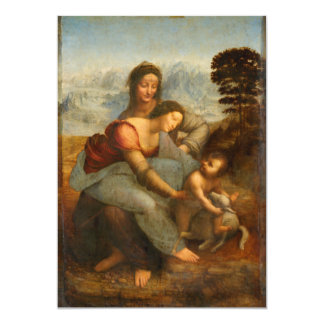 The Virgin and Child with St. Anne by Da Vinci Card