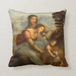 The Virgin and Child with St. Anne by Da Vinci Pillow