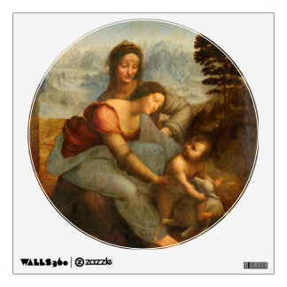 The Virgin and Child with St. Anne by Da Vinci Wall Decal