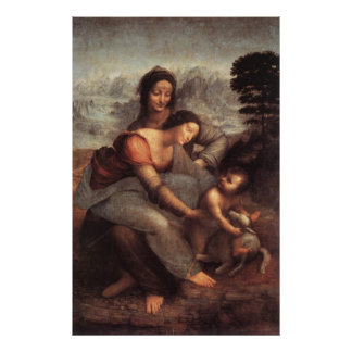 The Virgin and Child with St Anne Canvas Print