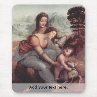 The Virgin and Child with St Anne Mouse Pad