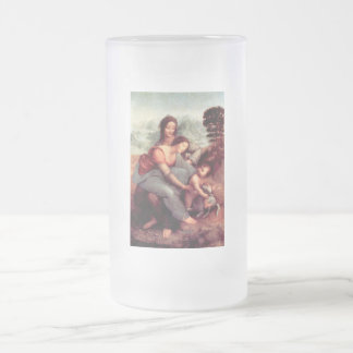 The Virgin and Child with St. Anne 16 Oz Frosted Glass Beer Mug