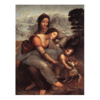 The Virgin and Child with St Anne Postcard