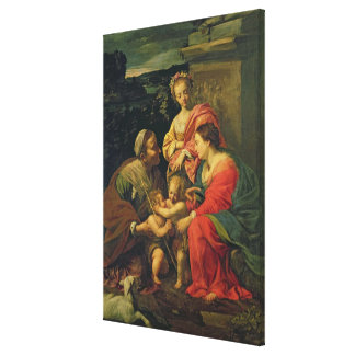 The Virgin and Child with St. Elizabeth, the Infan Canvas Print