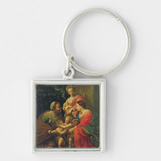 The Virgin and Child with St. Elizabeth, the Infan Key Chain