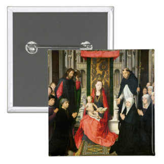 The Virgin and Child with St. James & St. Dominic Pinback Buttons