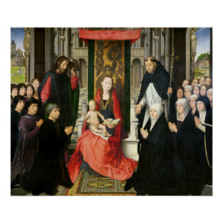 The Virgin and Child with St. James & St. Dominic Poster