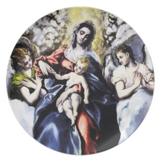 The Virgin and Child with St. Martina Plate
