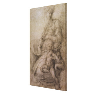 The Virgin and Child with the infant Baptist Canvas Print