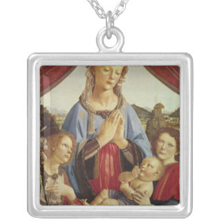 The Virgin and Child with Two Angels, c.1470's Square Pendant Necklace