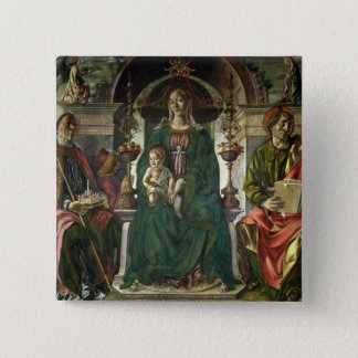 The Virgin and Saints, 1474 Button