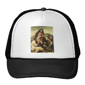 The Virgin and with a Saint and an Angel Trucker Hat