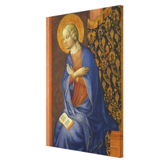 The Virgin Annunciate, c. 1430 (tempera on panel) Canvas Print