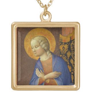 The Virgin Annunciate, c. 1430 (tempera on panel) Gold Plated Necklace