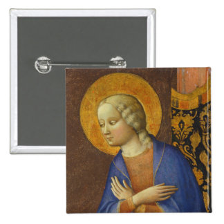 The Virgin Annunciate, c. 1430 (tempera on panel) Pinback Button