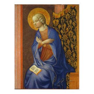 The Virgin Annunciate, c. 1430 (tempera on panel) Postcard