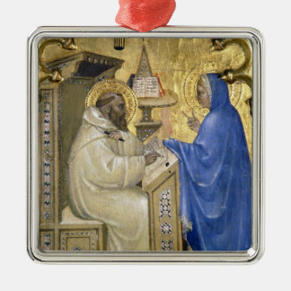 The Virgin appearing to St. Bernard, detail from a Christmas Tree Ornaments