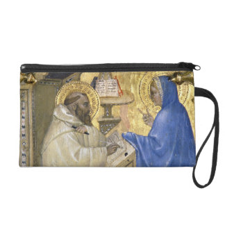 The Virgin appearing to St. Bernard, detail from a Wristlet Purse