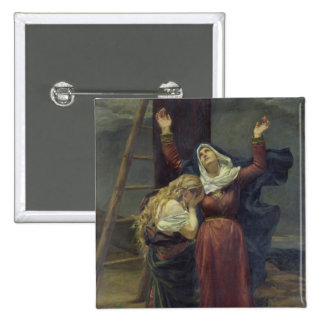 The Virgin at the Foot of the Cross Pinback Button