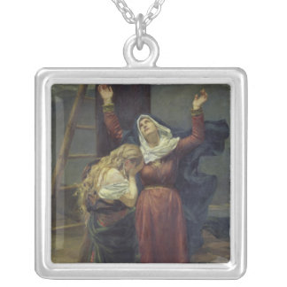 The Virgin at the Foot of the Cross Silver Plated Necklace