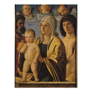The Virgin & Child with St. Peter & St. Poster