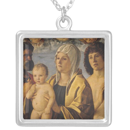 The Virgin & Child with St. Peter & St. Silver Plated Necklace