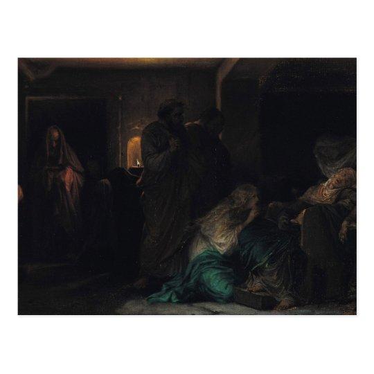 The Virgin Fainting, 1856 Postcard
