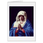 The Virgin in Prayer, 1640-50 (oil on canvas) Card