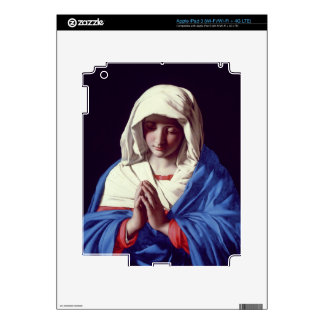 The Virgin in Prayer, 1640-50 (oil on canvas) Decal For iPad 3
