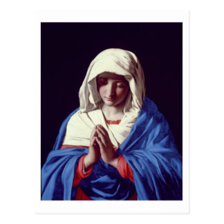 The Virgin in Prayer, 1640-50 (oil on canvas) Postcard