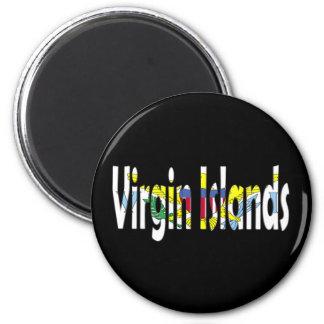 The Virgin Islands 2 Inch Round Magnet