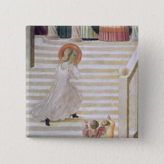 The Virgin Mary ascending the staircase Pinback Button