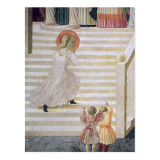 The Virgin Mary ascending the staircase Postcard