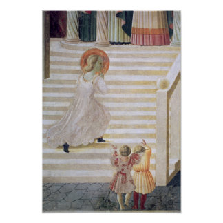 The Virgin Mary ascending the staircase Poster