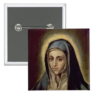 The Virgin Mary, c.1594-1604 Pinback Button