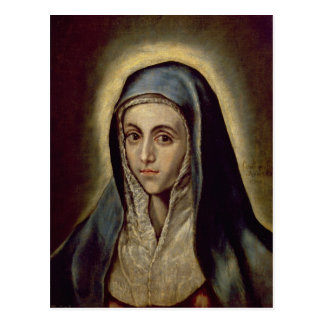 The Virgin Mary, c.1594-1604 Postcard