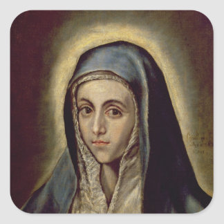 The Virgin Mary, c.1594-1604 Square Sticker