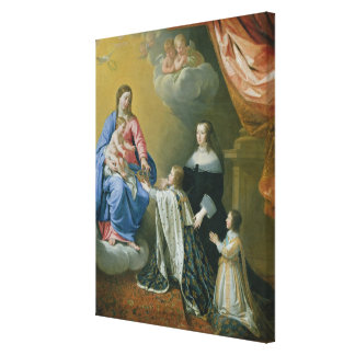 The Virgin Mary gives the Crown and Sceptre Canvas Print
